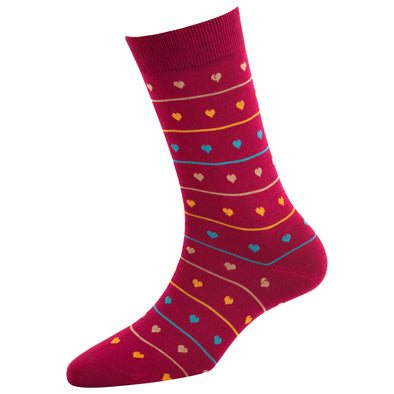 Women's Fashion Heart Stripe Socks