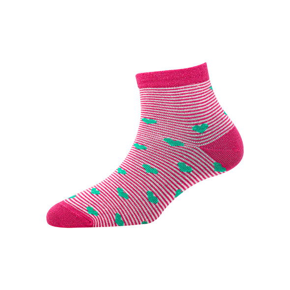 Women's YW-W1-4007 Ankle Heart Socks