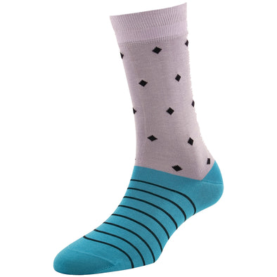 Women's Fashion Diamond Stripe Socks