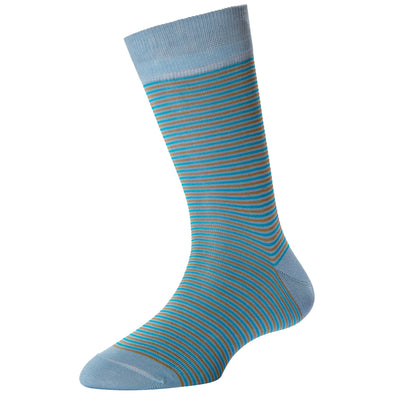 Women's Light Blue Pin Stripe Socks