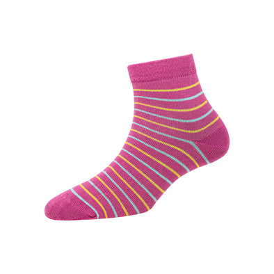 Women's YW-W1-4010 Ankle 2 Colour Stripe Socks
