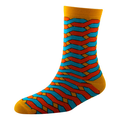 Men's YW-M1-320 Fashion Steps Crew Socks