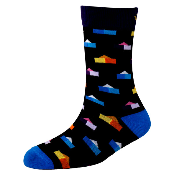 Men's YW-M1-316 Fashion House Crew Socks