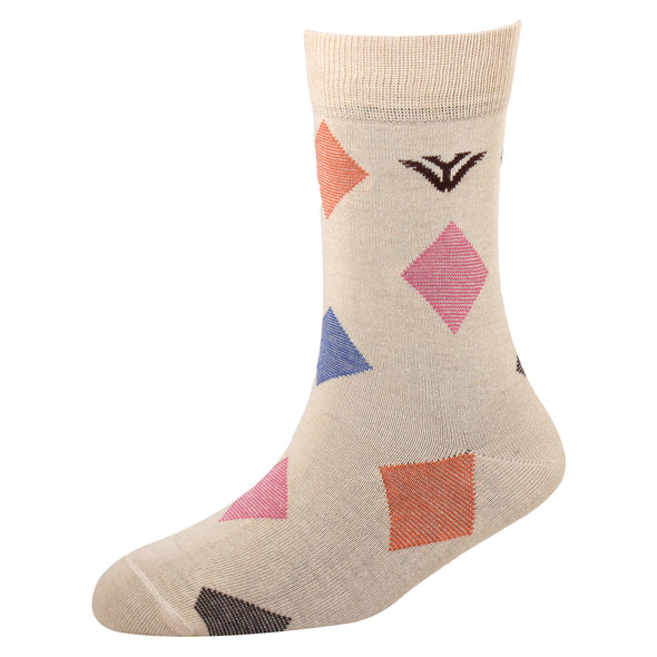 Men's YW-M1-309 Fashion Diamond Crew Socks