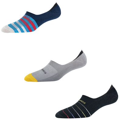 Men's NS013 Pack of 3 Invisible/No Show Socks