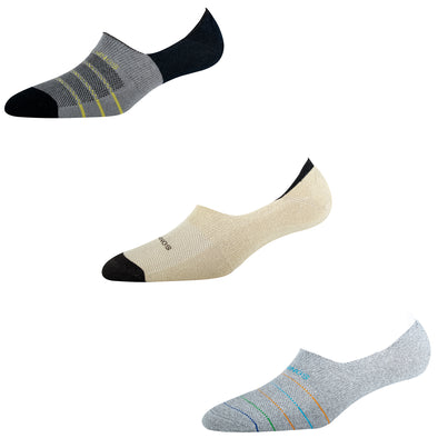 Men's NS012 Pack of 3 Invisible/No Show Socks