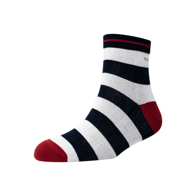 Men's YW-M1-245 50-50 Stripe Ankle Socks