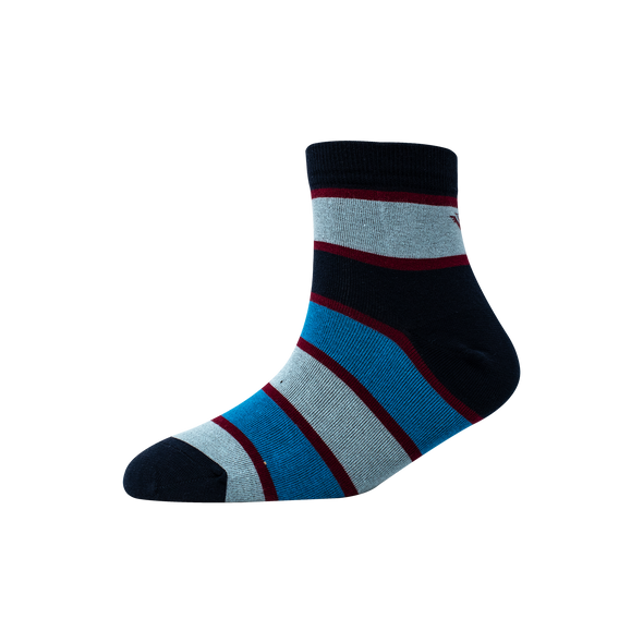 Men's YW-M1-249 Multi Colour Broad Stripe Ankle Socks