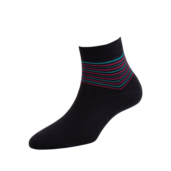 Women's Solid Stripe Ankle Socks