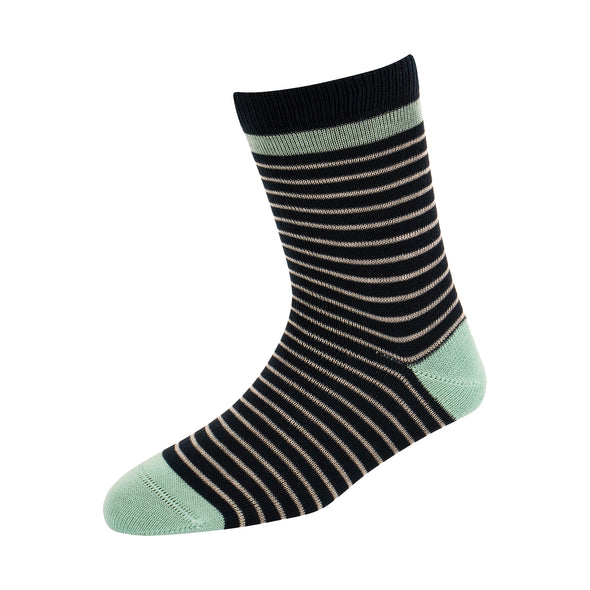 Kids Navy Stripe Socks