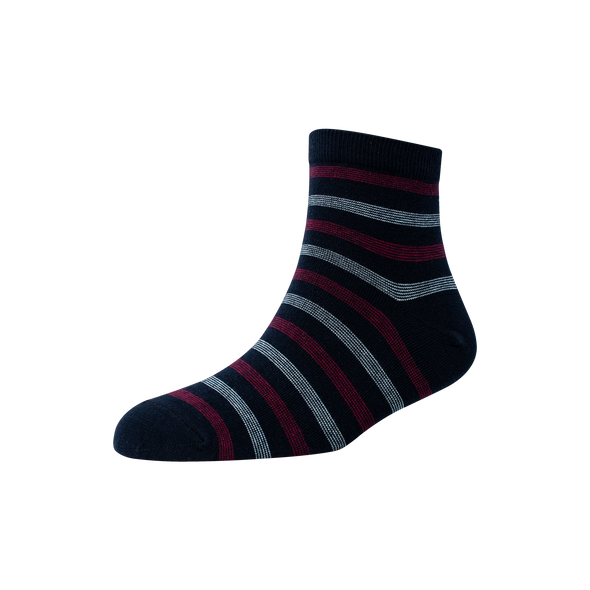 Men's YW-M1-262 Ten Pin Stripe Ankle Socks