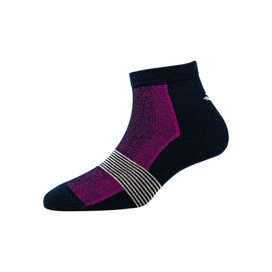 Women's YW-W1-4005 Ankle Multi Foot Stripe Socks
