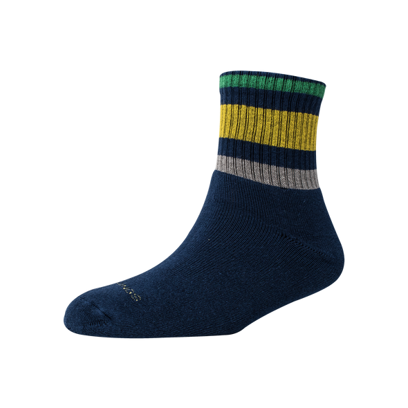 Men's YW-M1-260 Terry 3 Stripe Ankle Socks