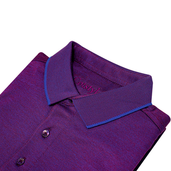 Men's Double Mercerised Ultra Comfort Egyptian Cotton Half Sleeves Bitone Polo Shirt