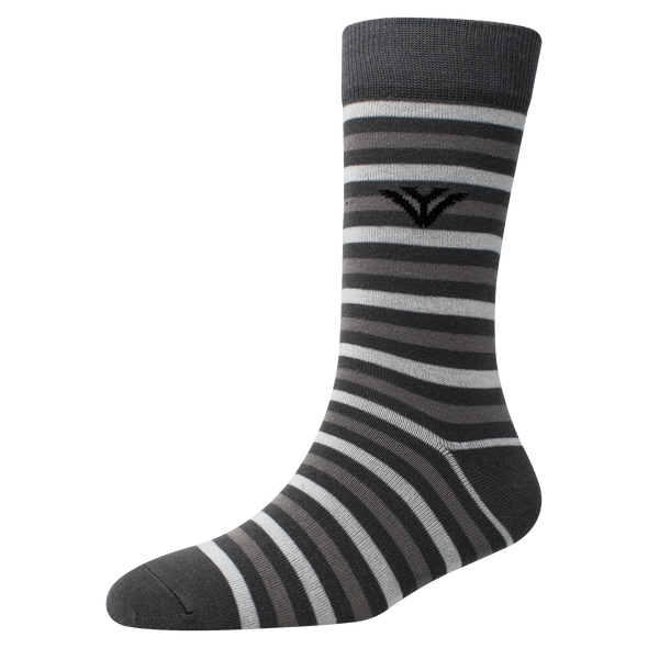 Men's YW-M1-302 Stripe Crew Socks