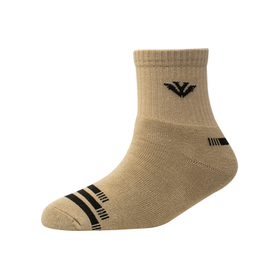 Men's YW-M1-257 Terry Toe 3 Stripe Ankle Socks