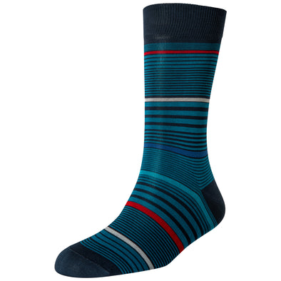Men's Turquoise Multi Stripe Socks