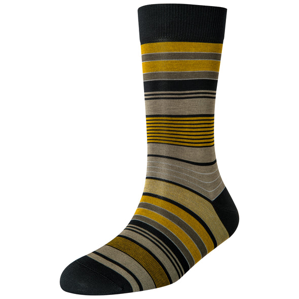 Men's Yellow Multi Stripe Socks