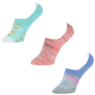 Women's NS015 Pack of 3 Invisible/No Show Socks
