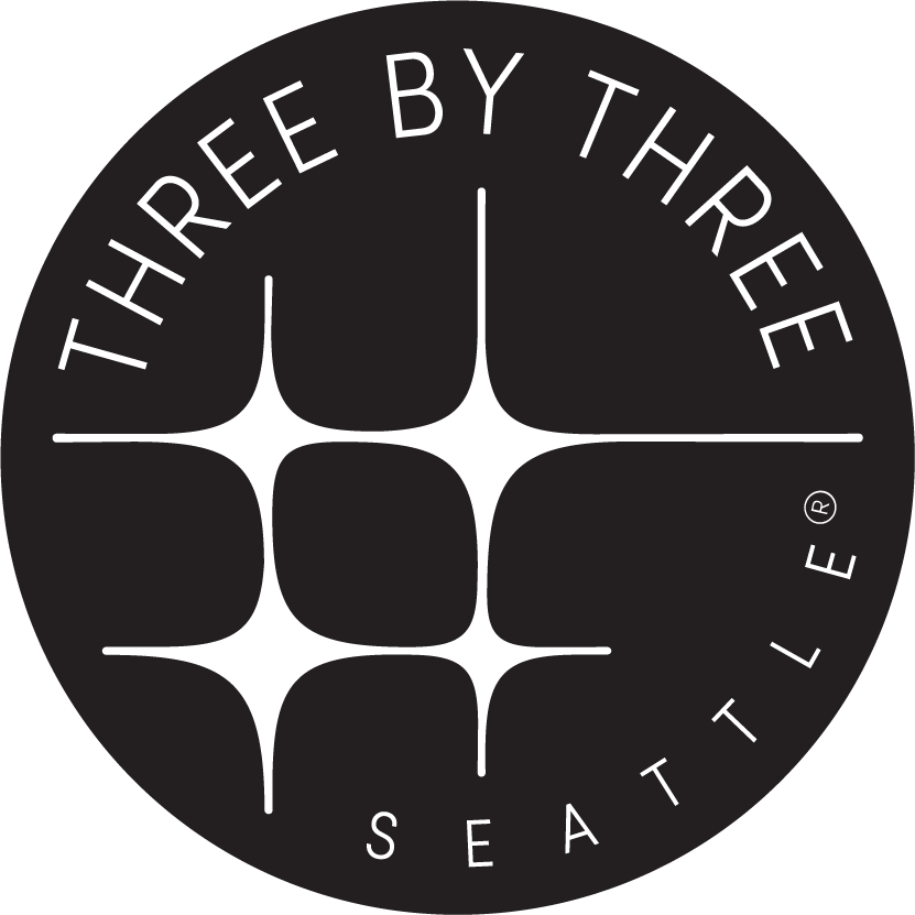 Three by Three Seattle logo
