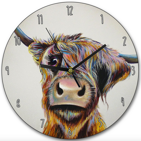 Adam Barsby Highland Cow Coo Clock Wraptious