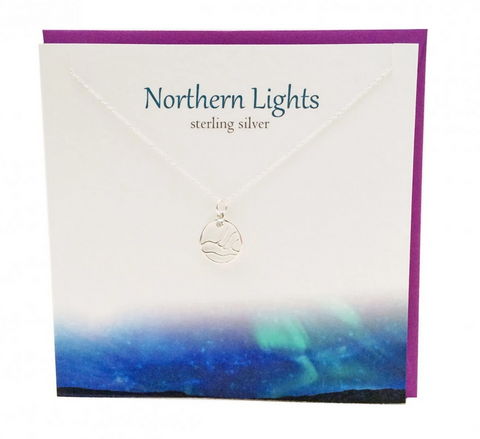 The Silver Studio Northern Lights Scene Necklace Pendant Card & Gift Set      £14.95