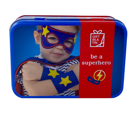 Apples To Pears Gift In A Tin Be A Superhero Dress Up Costume