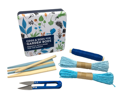 Apples To Pears Gift In A Tin Odds & Sods For Garden Bods - Plant Tie Mini Snips Garden Wire