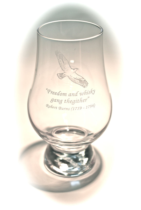 Glencairn Crystal Whisky Glass - Burns Quote