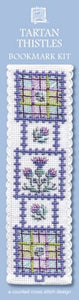 Scottish Tartan Thistles Bookmark Cross Stitch Kit