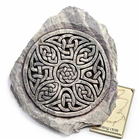 Bressay Celtic Cross Wall Plaque, Sign, Picture - Indoor Outdoor Use.