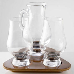 Glencairn Whisky Glass Tasting Set, Water Jug and Tray
