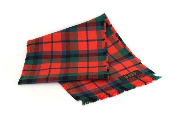 Traditional Scottish Tartan 100% Wool Plain Full Fringed Sash - MacNaughton Ancient