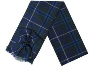Scottish 100% Wool Tartan Ladies Mini Sash with Rosette - Douglas Modern