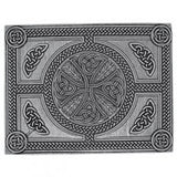 Stunning Cast Pewter Celtic Cross Kilt Trews Belt Buckle - Made In Scotland