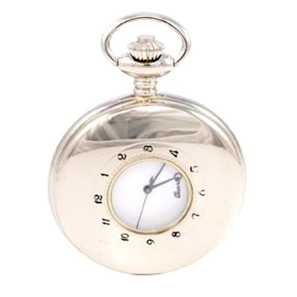 Satin Finish Open Fronted Fob Pocket Watch Full Hunter 17 Jewel Mechanical PW54