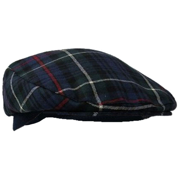 Authentic MacKenzie 100% Scottish Tartan Golf Cap - One Size Fits All