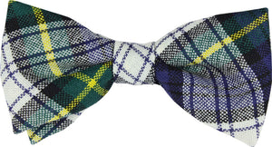 Dress Gordon Tartan Mens Bow Tie 100% Wool Pre-tied - Made in Scotland