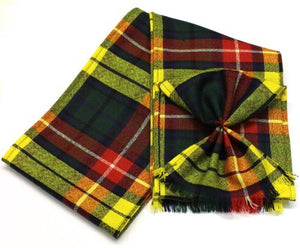 Scottish 100% Wool Tartan Ladies Mini Sash With Rosette - Buchanan