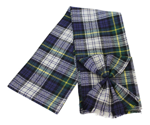 Scottish 100% Wool Tartan Ladies Mini Sash With Rosette - Dress Gordon