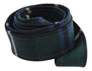 100 % Pure Wool Traditional Tartan Ribbon - 1 Inch x 54 Inches - Douglas