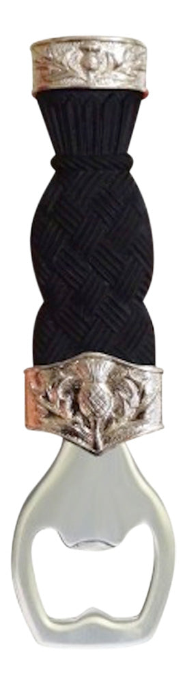Fabulous Dress Sgian Brew with Basket Weave Effect Handle and Scottish Thistle Detail