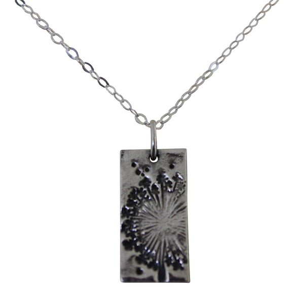 Stunning Delicate Fine Silver Dandelion Wish Pendant Necklace and Chain
