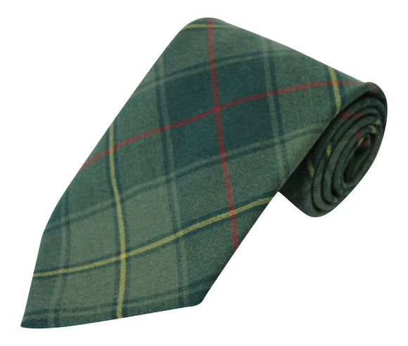 100% Wool Authentic Traditional Scottish Tartan Lightweight Neck Tie - Kenmore