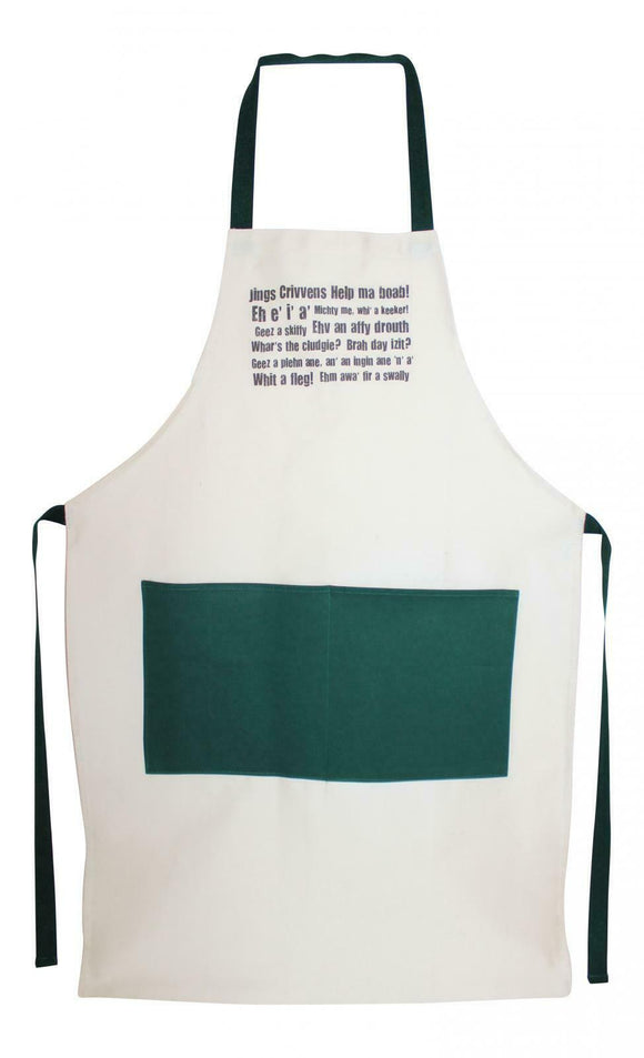 Dundonian - Dundee Scots Scottish Dialect Traditional 100% Cotton Apron