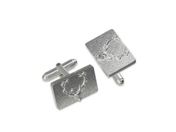 Stunning Scottish Highland Stag Solid Sterling Silver Cufflinks