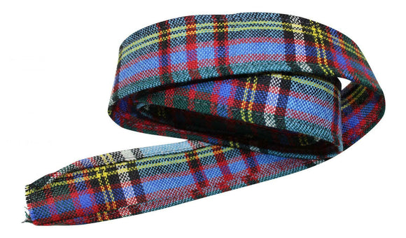 100 % Pure Wool Traditional Tartan Ribbon - 1 Inch x 54 Inches - Thomson