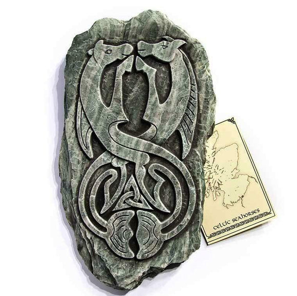 Aberlemno Seahorses Wall Plaque - Unique Romantic Scottish Gift