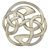 Scottish Eternal Celtic Knot Lindisfarne Plaid Brooch Pin
