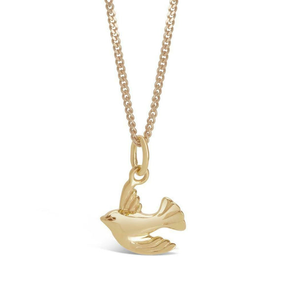 Lily Blanche Rose Gold Silver Swallow Bird Necklace Pendant